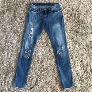 BlankNYC Skinny Destructed Denim Jeans